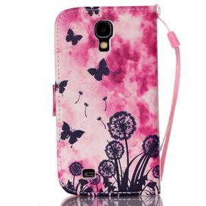 Diary peněženkové pouzdro na mobil Samsung Galaxy S4 mini - motýlci - 2