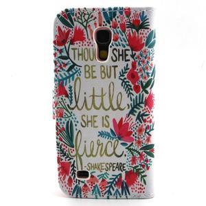 Diaryleather pouzdro na mobil Samsung Galaxy S4 mini - Shakespeare - 2