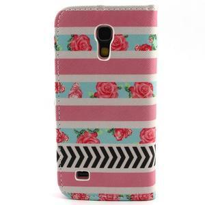 Diaryleather pouzdro na mobil Samsung Galaxy S4 mini - růže - 2