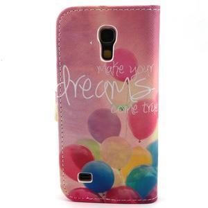 Diaryleather pouzdro na mobil Samsung Galaxy S4 mini - balónky - 2