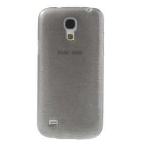 Brushed gelový obal na mobil Samsung Galaxy S4 mini - šedý - 2