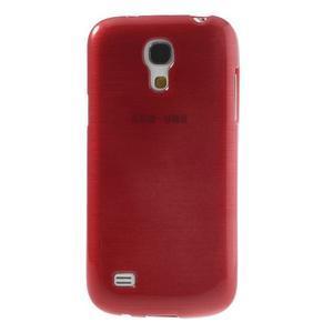 Brushed gelový obal na mobil Samsung Galaxy S4 mini - červený - 2