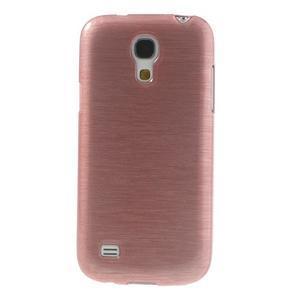 Brushed gelový obal na mobil Samsung Galaxy S4 mini - růžový - 2