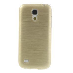 Brushed gelový obal na mobil Samsung Galaxy S4 mini - zlatý - 2