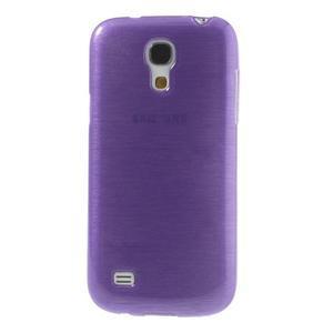 Brushed gelový obal na mobil Samsung Galaxy S4 mini - fialový - 2