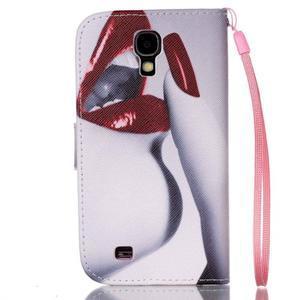 Diary peněženkové pouzdro na mobil Samsung Galaxy S4 mini - sexy rty - 2