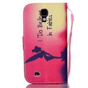 Diary peněženkové pouzdro na mobil Samsung Galaxy S4 mini - víla - 2