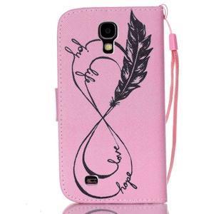 Diary peněženkové pouzdro na mobil Samsung Galaxy S4 mini - love - 2
