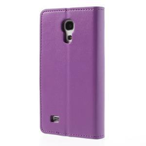 Sonata PU kožené pouzdro na mobil Samsung Galaxy S4 mini - fialové - 2