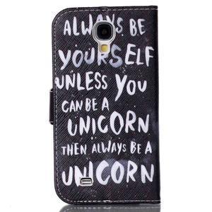 Emotive peněženkové pouzdro na Samsung Galaxy S4 mini - unicorn - 2