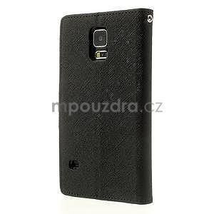Diary peněženkové pouzdro na Samsung Galaxy S5 - černé - 2