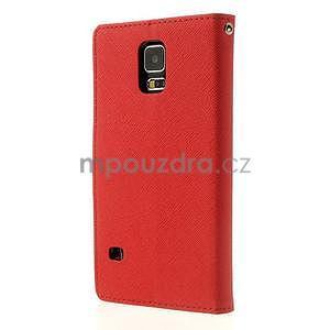 Diary peněženkové pouzdro na Samsung Galaxy S5 - červené - 2