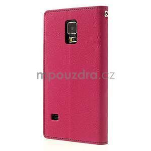 Diary peněženkové pouzdro na Samsung Galaxy S5 - rose - 2
