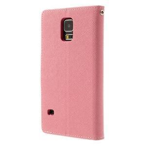 Diary peněženkové pouzdro na Samsung Galaxy S5 - růžové - 2