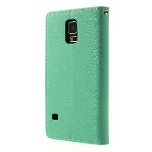 Diary peněženkové pouzdro na Samsung Galaxy S5 - azurové - 2