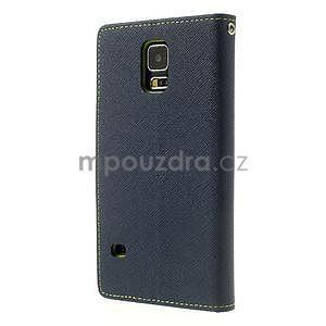 Diary peněženkové pouzdro na Samsung Galaxy S5 - tmavěmodré - 2