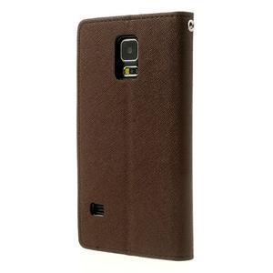 Diary peněženkové pouzdro na Samsung Galaxy S5 - hnědé - 2