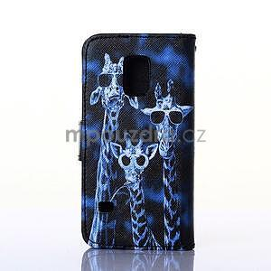 Pouzdro na mobil Samsung Galaxy S5 - žirafí mafie - 2