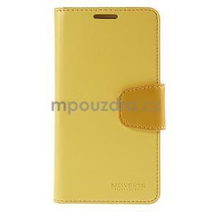 Elegantní peněženkové pouzdro na Samsung Galaxy S5 - žluté - 2