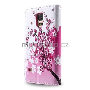 Ochranné pouzdro na mobil Samsung Galaxy S5 - kvetoucí větvička - 2