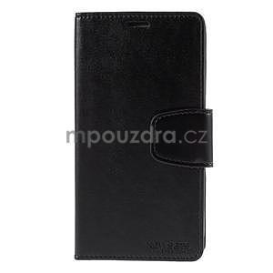 Elegantní peněženkové pouzdro na Samsung Galaxy S5 - černé - 2