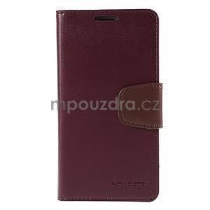 Elegantní peněženkové pouzdro na Samsung Galaxy S5 - vínové - 2