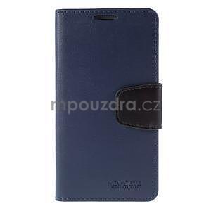 Elegantní peněženkové pouzdro na Samsung Galaxy S5 - tmavěmodré - 2
