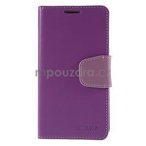Elegantní peněženkové pouzdro na Samsung Galaxy S5 - fialové - 2