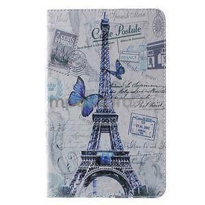 Ochranné koženkové pouzdro na Samsung Galaxy Tab E 9.6 - Eiffelova věž - 2