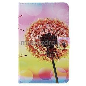 Ochranné koženkové pouzdro na Samsung Galaxy Tab E 9.6 - oranžová pamepelišky - 2