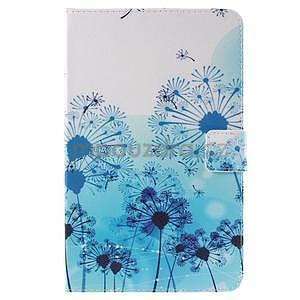 Ochranné koženkové pouzdro na Samsung Galaxy Tab E 9.6 - modrá pampeliška - 2