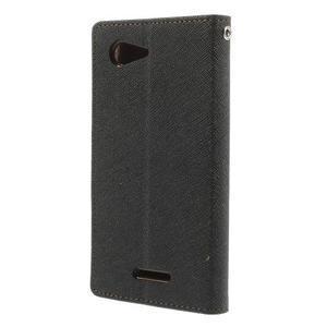 Richmercury pouzdro na mobil Sony Xperia E3 - černé/hnědé - 2