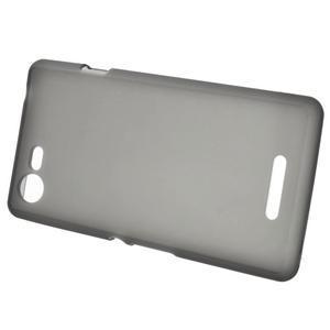 Matný gelový obal na mobil Sony Xperia E3 - šedý - 2