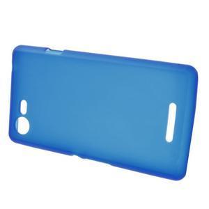 Matný gelový obal na mobil Sony Xperia E3 - modrý - 2