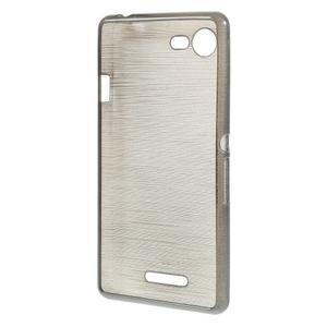 Brushed gelový obal na mobil Sony Xperia E3 - šedý - 2
