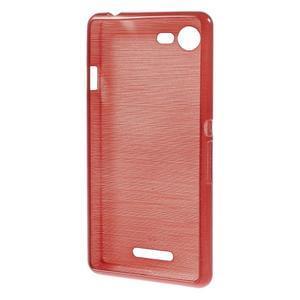 Brushed gelový obal na mobil Sony Xperia E3 - červený - 2