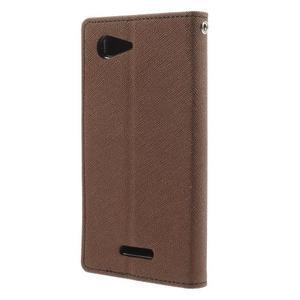 Richmercury pouzdro na mobil Sony Xperia E3 - hnědé - 2