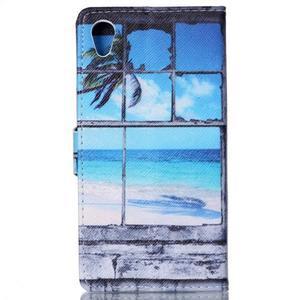 Emotive pouzdro na mobil Sony Xperia M4 Aqua - plážová scenérie - 2
