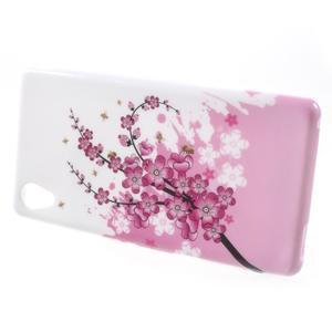 Emotive gelový obal na Sony Xperia M4 Aqua - kvetoucí větvička - 2