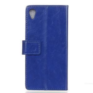 Horse PU kožené pouzdro na Sony Xperia X - modré - 2