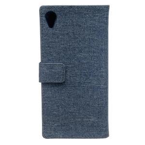 Texture pouzdro na mobil Sony Xperia X - tmavěmodré - 2