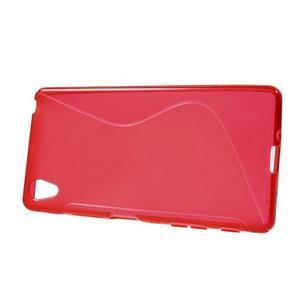 S-line gelový obal na Sony Xperia X - červený - 2