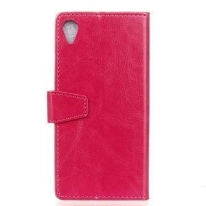 Knížkové PU kožené pouzdro na Sony Xperia X - rose - 2