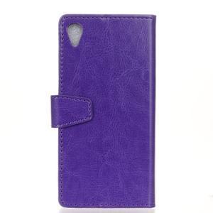 Knížkové PU kožené pouzdro na Sony Xperia X - fialové - 2