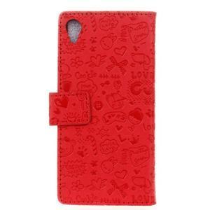 Cartoo peněženkové pouzdro na Sony Xperia X - červené - 2