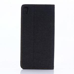 Jeans pouzdro na mobil Sony Xperia X Performance - černomodré - 2