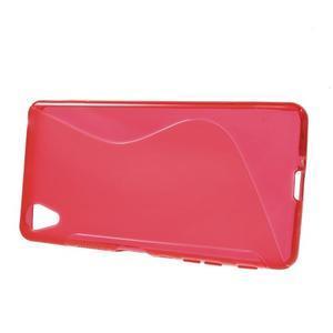 S-line gelový obal na mobil Sony Xperia X Performance - červený - 2