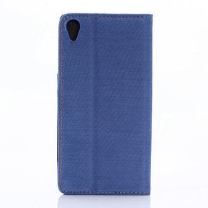 Jeans peněženkové pouzdro na mobil Sony Xperia XA - modré - 2