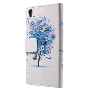Emotive pouzdro na mobil Sony Xperia XA - modrý strom - 2