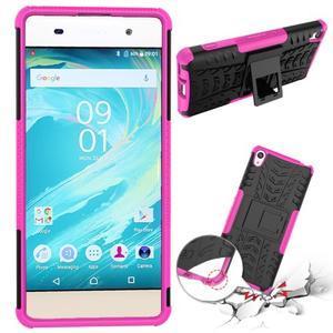 Outdoor odolný obal na mobil Sony Xperia XA - rose - 2